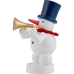 Schneemann Musikant mit Trompete - 8 cm