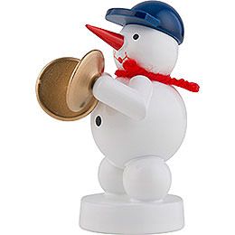 Snowman Musician with Cymbals - 8 cm / 3 inch