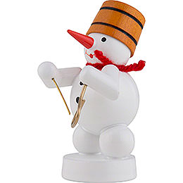 Snowman Musician with Triangle - 8 cm / 3 inch