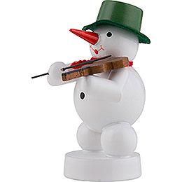 Schneemann Musikant mit Geige - 8 cm