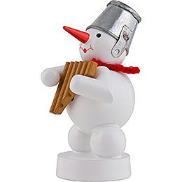 Snowman Musician with Panpipes - 8 cm / 3 inch