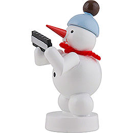 Snowman Musician with Harmonica - 8 cm / 3 inch