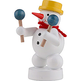 Snowman Musician with Maracas - 8 cm / 3 inch
