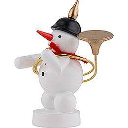 Snowman Musician with Sousaphone - 8 cm / 3 inch