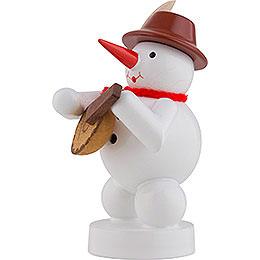 Snowman Musician with Mandolin - 8 cm / 3 inch