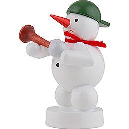 Schneemann Musikant mit Hupe - 8 cm