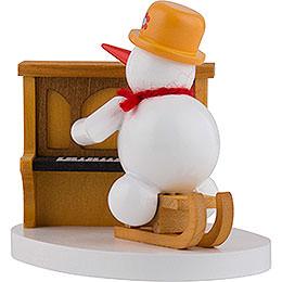 Schneemann Klavierspieler - 8 cm