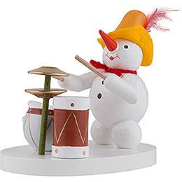 Snowman Drummer - 8 cm / 3 inch