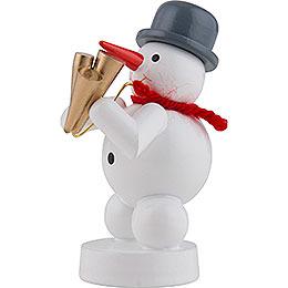 Snowman Musician with Schawm - 8 cm / 3 inch