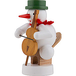 Snowman Musician with Cello - 8 cm / 3 inch