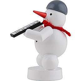 Snowman Musician with Melodica - 8 cm / 3 inch