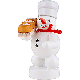 Snowman Baker with Cake - 8 cm / 3.1 inch
