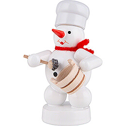 Snowman Baker with Poppy Pot and Spoon - 8 cm / 3.1 inch