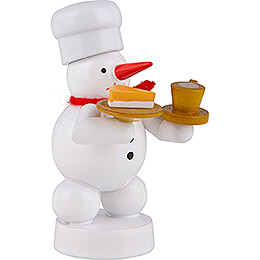 Snowman Baker with Coffee and Cake - 8 cm / 3.1 inch