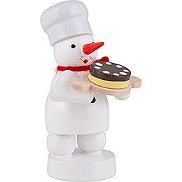 Snowman Baker with Pie - 8 cm / 3.1 inch