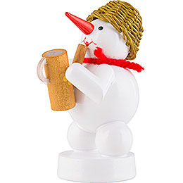 Snowman - Musician with Watering Can - 8 cm / 3.1 inch