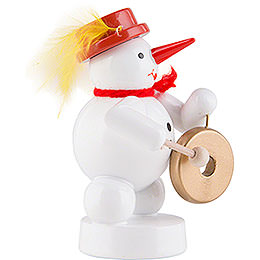 Snowman - Musician with Gong - 8 cm / 3.1 inch