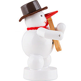 Snowman - Musician with Fiddle - 8 cm / 3.1 inch