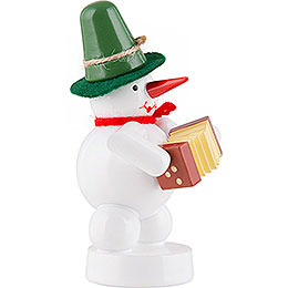Snowman - Musician with Concertina - 8 cm / 3.1 inch