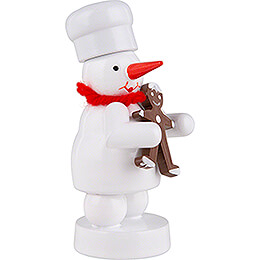 Snowman Baker with Gingerbread Man - 8 cm / 3.1 inch