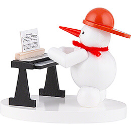 Snowman Musician with Keyboard - 8 cm / 3.1 inch