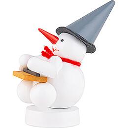 Snowman Musician with Hackbrett - 8 cm / 3.1 inch