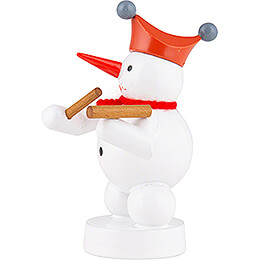 Snowman Musician with Hammered Dulcimer - 8 cm / 3.1 inch