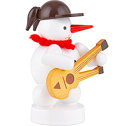 Snowman Musician with Double Neck Guitar - 8 cm / 3.1 inch