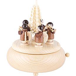 Spieldose Engel natur - 16 cm