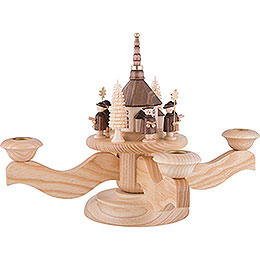 Advent Candle Holder - Seiffen Church - 23 cm / 9.1 inch