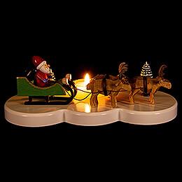 Kerzenhalter Ruprecht und seine Rentiere bunt - 9 cm