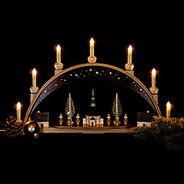 Candle Arch - Seiffen Church under Starry Sky  - 62x38 cm / 24.4x15 inch