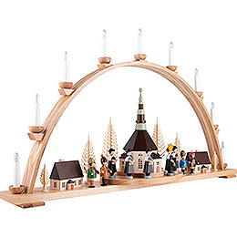 Candle Arch - Seiffen Church  - 98x57 cm / 38.6x22.4 inch