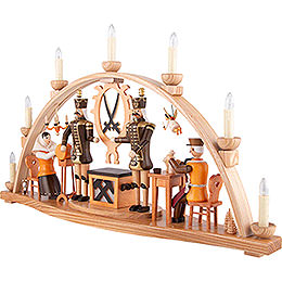 Candle Arch - Ore Mountain Theme - Natural - 66x38 cm / 26x15 inch