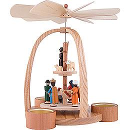 2-stöckige Pyramide Christi Geburt - 24 cm