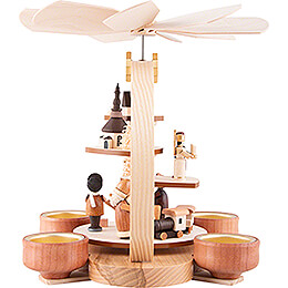 1-Tier Pyramid - Natural Figurines - 24 cm / 9.4 inch
