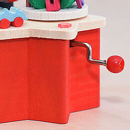 Music Box with Crank Santa Claus - 7 cm / 2.8 inch