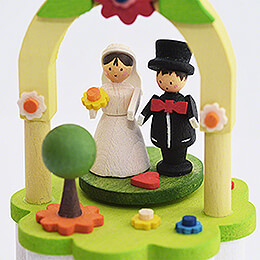 Music Box with Crank - Bridal Couple - 10 cm / 3.9 inch