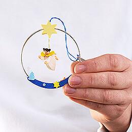 Christbaumschmuck Engel im Ring - 8 cm