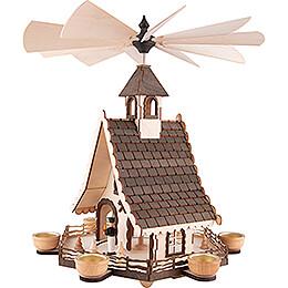 1-stöckige Hauspyramide Bergmänner - 47 cm
