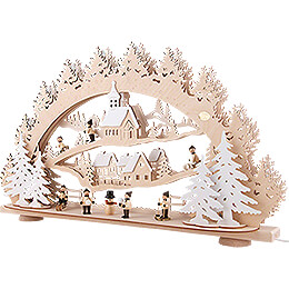 3D Candle Arch - Children in the Winter Village - 66x40 cm / 26x15.7 inch