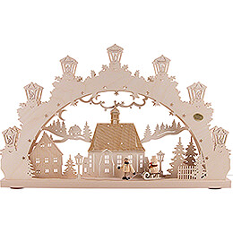 3D Candle Arch - Child with Sled - 52x31,5 cm / 20.5x12.4 inch