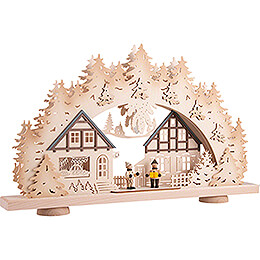 3D-Schwibbogen Kinder im Dorf - 52x31,5 cm