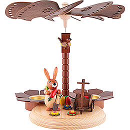 1-Tier Easter Pyramid Natural - 20 cm / 7.9 inch