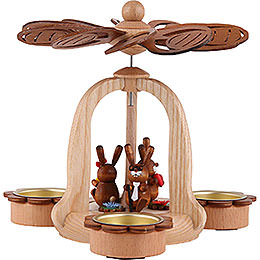 1-Tier Easter Pyramid with Bunnies 18 cm / 7.1 inch