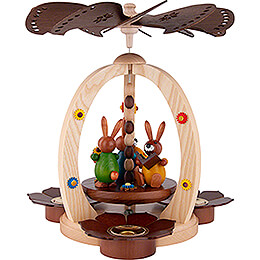 1-Tier Easter Pyramid with three Bunnies - 29 cm / 11.4 inch