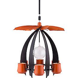 1-Tier Hanging Pyramid NOVA - Anthracite/Orange - 33 cm / 13 inch