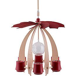 1-Tier Hanging Pyramid NOVA - Maple/Rubyred - 33 cm / 13 inch