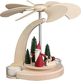 1-Tier Pyramid - Christmas Gnome with Sled - 18 cm / 7.1 inch