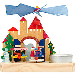1-Tier Pyramid - Christmas Market Children - 12 cm / 4.7 inch